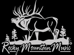 Rocky Mountain Music Decal - Gray